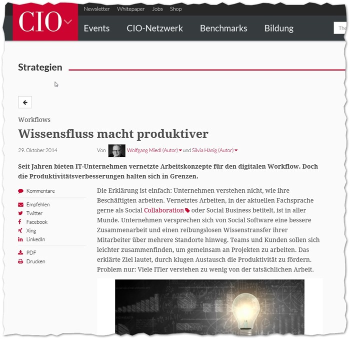 CIO-Magazin-Workflows_ Wissensfluss macht produktiver